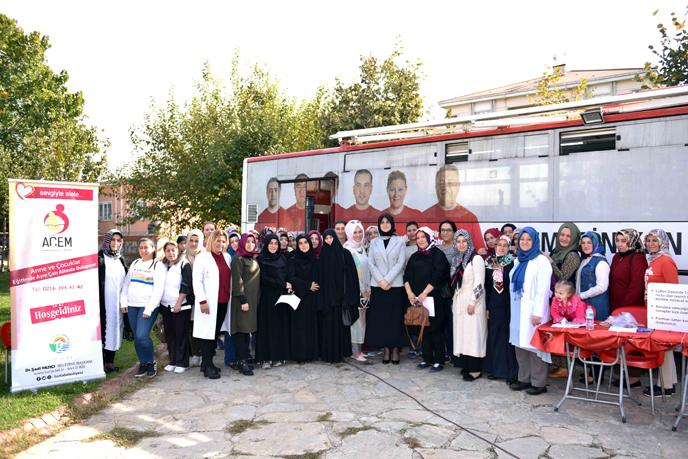 Tuzla Belediyesi Anne Çocuk Eğitim Merkezi, Kızılay Haftası'nda 45 Ünite Kan Topladı
