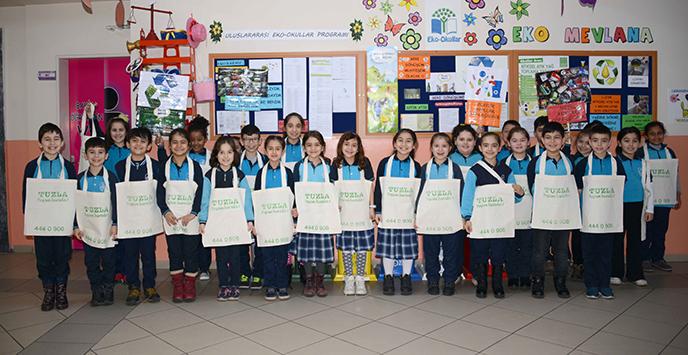 Tuzla Belediyesi ve Mevlana İlkokulu, Geri Dönüşümde Örnek Bir Kampanyayı Sürdürüyor